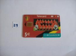 FOOTBALL  - Telecartes Belgique  200 Bef - Diables Rouge Red Devils  - Voir Photo (29) - Sport