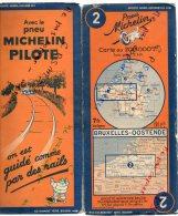 Carte Géographique MICHELIN - N° 002 BRUXELLES-OOSTENDE - 1938 - Wegenkaarten