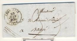 Maine Et Loire , Chemillé , Cachet Type 13 Du 23 Juin 1839 - 1801-1848: Voorlopers XIX