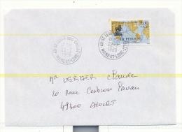 Maine Et Loire , St Leger Sous Cholet , Homme Celebre La Perouse N° 2519 Sur Lettre Du 22 2 1988 - 1961-....