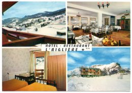 CP, H�tel Restaurant L'AIGLIERE, Station de Puy St Vincent (1400m), Multivues, Vierge, Ed : L. MACARO