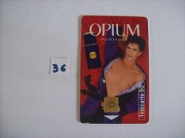 YVES SAINT LAURENT - OPUIM Homme - Telecartes France 50  Unités - Voir Photo (36) - Parfum
