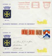 "2 X Envelop Fil. Ver. ""Sittard En Omstreken"" (1970 En 1972) - Period 1949-1980 (Juliana)"