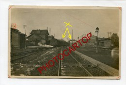 GARE-TRAIN-ORCHIES-Carte Photo Allemande-Guerre 14-18-1WK-FRANCE-FRANKREICH-59- - Orchies