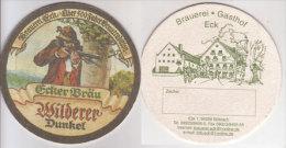 Ecker Bräu Brauerei Eck Böbrach , Wilderer Dunkel - Zeche Deckel - Sous-bocks