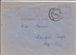 AMOUNT 0.55, TURDA, GLASS COMPANY METERMARK, MACHINE STAMPS ON COVER, 1953, ROMANIA - Marcophilie - EMA (Empreintes Machines)