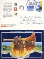 2 Geïllustreerde Briefkaarten Grote Postkoetsenrace 1986 - Period 1980-... (Beatrix)