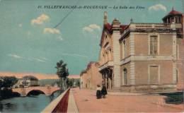 12 - Villefranche-de-Rouergue - La Salle Des Fêtes (colorisée, Vernie) - Villefranche De Rouergue