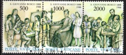 PIA . VAT - 1988 : 100°  Della  Morte Di S. Giovanni  Bosco  - (SAS 828-30) - Vaticano (Ciudad Del)