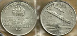 HUTT RIVER PROVINCE $5 CROWN FRONT DESERT STORM AIRPLANE BACK 1YEAR TYPE 1991 UNC KM.X32? READ DESCRIPTION CAREFULLY!! - Monnaies