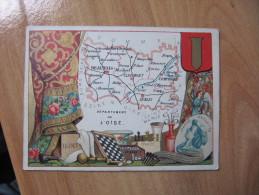 S5  CHROMO CHROMOS GEOGRAPHIQUE DEPT DE L OISE   ANIMEE PUBLICITAIRE BLASON - Geographical Maps