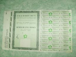 Action De 100 Francs Au Porteur Chambourcy - 92 Clamart - Azioni & Titoli