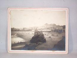 """Photo S/carton. """"Casino De Biarritz"""" 8 Septembre1913. - Lieux"""