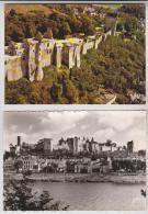 2 CM DPT 37 CHINON, LE CHATEAU - Cartes Postales