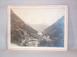 Photo S/carton. Cauterets. Etablissements Thermaux à La Raillière. 5 Sept.1913. - Lieux