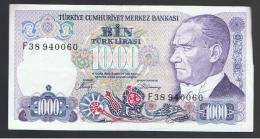 TURQUIA - TURKEY - 1000 Liras 1970   Circulado  P-196 - Turquia