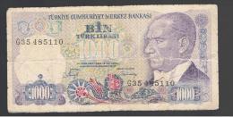 TURQUIA - TURKEY - 1000 Liras 1970   Circulado  P-196 - Turchia