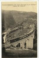 Carte Postale Ancienne Ligne électrique De La Cerdagne  -  Viaduc Du Paillat - Chemin De Fer - Autres Communes