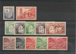 ANDORRE  Années 1948/51 N° Y/T 119/133 Incomplète** Côte: 28,60 €