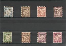 ANDORRE  Années 1932/33 N° Y/T 1/8* Côte : 65,00 €