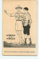 Paul COZE : Viens Avec Nous ! Scout De France. Voir Dos. 2 Scans. - Scoutisme