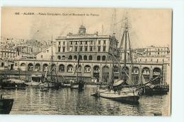 Alger : Palais Consulaire, Quai Et Boulevard De France. 2 Scans. Edition Collection Régence - Algiers
