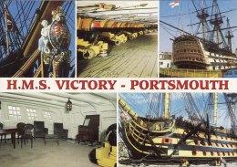 Multiview Postcard PORTSMOUTH Ship Victory Warrior Dockyard King Henry VIII - Guerra