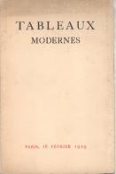 TABLEAUX MODERNES - PARIS, 16 FEVRIER 1929 AQUARELLES DESSINS CIRCA 30 PAGES RARE - Books, Magazines, Comics