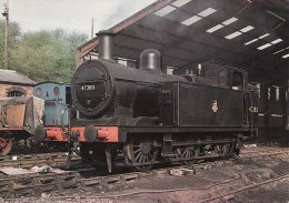 Railway Postcard LMS Jinty 47383 BRIDGNORTH 1977 Fowler 0-6-0T Loco SVR - Eisenbahnen