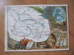 S5  CHROMO CHROMOS GEOGRAPHIQUE DEPT  DE L YONNE    ANIMEE PUBLICITAIRE BLASON - Mapas Geográficas