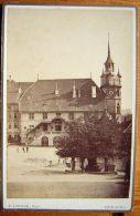 SUISSE - Photo Cabinet 10x16 - FRIBOURG - Hôtel De Ville Et Tilleul De La Bataille De Morat Par LORSON Fribourg - Old (before 1900)