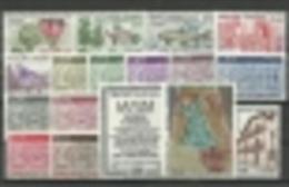ANDORRA- OFERTA ESPECIAL  CORREO FRANCES AÑO 1983  COMPLETO **  SIN FIJASELLOS  (S-5) - Años Completos