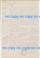 Très Rare Document 15 Février 1874 Délibération Mairie CRESSY OMENCOURT Création Bureau Télégraphe à Ercheu  SommeErcheu - Historical Documents