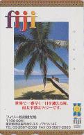 RARE Télécarte Japon - ILES FIDJI ISLANDS / Mer & Palmier Japan Phonecard Telefonkarte - 02 - Fidji