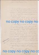 Très Rare Document 20 Janvier 1874 Délibération Mairie SOLENTE Création Bureau Télégraphe à Ercheu - Historical Documents