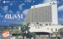 Télécarte Japon / 110-48064 - Site -  ILE DE GUAM - Hotel - USA Related Japan Phonecard / Duty Free - Telefonkarte - 02 - Guam
