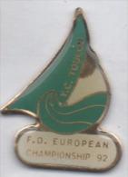Marine Bateau Voilier , Y.C. Toulon , F.D. European Championship 92 - Barcos