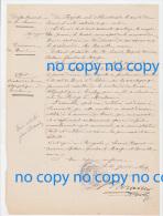 Très Rare Document 26 Janvier 1874 Délibération Mairie BREUIL Création Bureau Télégraphe à Ercheu - Historical Documents