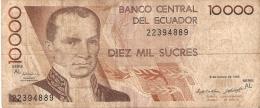 BILLETE DE ECUADOR DE 10000 SUCRES DEL 6 DE MARZO DEL 1995 (BANKNOTE) - Ecuador