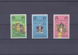 Nouvelles-Hébrides.25e Anniversaire De L'accession Au Trône De Sa Majesté Elizabeth II - Leyenda Francesa