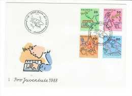 Suisse // Pro- Juventute / FDC / Lettre 1er Jour 1988 - Pro Juventute