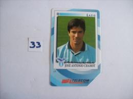 FOOTBALL  Lazio  José Antonio Chamot  - Telecartes Italie Pub Gli Introvabilin Panini  - 5000 Lire    - Voir Photo (33) - Sport