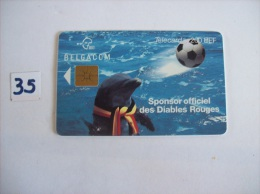FOOTBALL - Sponsor Officiel Des Diables Rouges  - Telecarte Belgique  200 Fb   - Voir Photo (35) - Sport