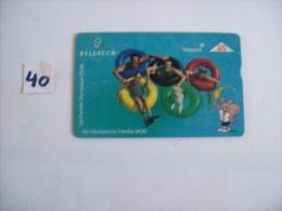 JEUX OLYMPIQUE - J O La Famille Olympique COIB De Olympiche Familie  - Telecarte Belgique  20 Unités   - Voir Photo (40) - Sport