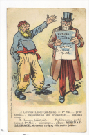 CPA PUBLICITE EAU RUBINAT LLORACH SIGNEE O. GALOP - Advertising