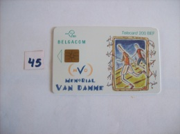 MEMORIAL VAN DAMME  - Telecarte Belgique  200 Bef  Annee 2000 - Voir Photo (45) - Sport