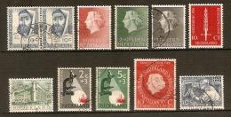 PAYS BAS.   .1954 / 55    .L O T  Oblitérés. - Periodo 1949 - 1980 (Giuliana)