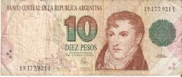 BILLETE DE ARGENTINA DE 10 PESOS CONVERTIBLES (RARO)  (BANKNOTE) - Argentina