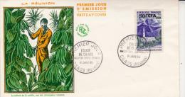 REUNION - LETTRE FDC AFFRANCHIE N° 352 A - 16 JANVIER 1960 - Storia Postale