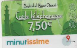Minutissime - Carte Téléphonique  7,50 € - 9 TELECOM - France